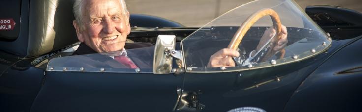 Jaguar Testfahrer Norman Dewis